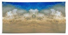 Big Ol Clouds Panorama Beach Sheet