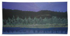 Beach Towel featuring the painting Big Sky Country by Norm Starks