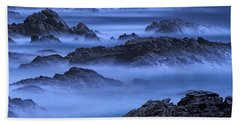 Beach Sheet featuring the photograph Big Sur Mist by William Lee