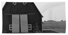 Big Tooth Barn Black And White Beach Sheet