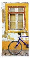 Bike Window Beach Towel by Carlos Caetano