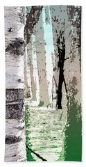 Beach Towel featuring the digital art Birch Forest by Phil Perkins