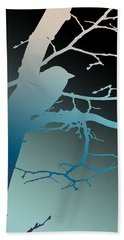 Bird At Twilight Beach Towel