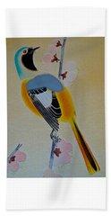 Bird Print Beach Towel by Julia Wilcox