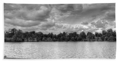 Beach Towel featuring the photograph Black And White Autumn Day by Michael Frank Jr