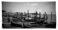 Black And White Gondolas Beach Sheet