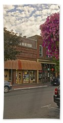 Blind Georges And Laughing Clam On G Street In Grants Pass Beach Towel by Mick Anderson