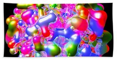 Beach Sheet featuring the digital art Blob Of Color... by Tim Fillingim