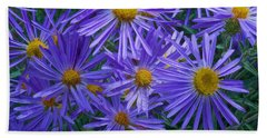 Blue Asters Beach Towel