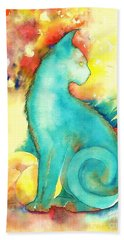Blue Damsel Beach Towel