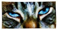 Blue Eyes Beach Towel