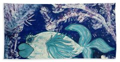 Blue Fish Called Flow Beach Towel