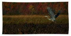 Blue Heron Mud Pond Dublin Beach Towel