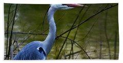 Blue Heron Vondelpark Amsterdam Beach Towel