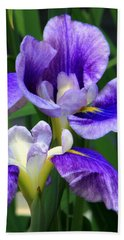 Blue Irises Beach Sheet