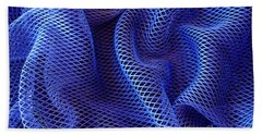 Blue Net Background Beach Towel