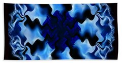 Blue Ripple Beach Towel by Danuta Bennett