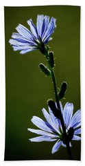 Blue Wildflower Beach Towel