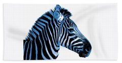 Blue Zebra Art Beach Towel