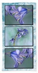 Beach Towel featuring the photograph Bluebell Triptych by Steve Purnell