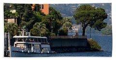 Boat And Tree Beach Towel
