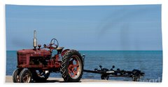 Beach Towel featuring the photograph Boat Trailer by Barbara McMahon
