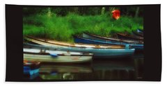 Boats At Rest Beach Towel