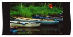 Boats At Rest Beach Sheet
