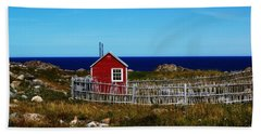 Bonavista Beach Towel by Leanna Lomanski