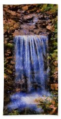 Botanical Garden Falls Beach Towel by Lynne Jenkins