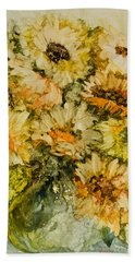 Bouquet Of Sunflowers Beach Towel