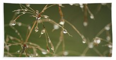 Branches Of Dew Beach Towel by Neal Eslinger
