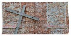 Brick Wall Cross Beach Towel