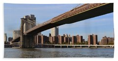Beach Towel featuring the photograph Brooklyn Bridge1 by Zawhaus Photography