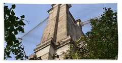 Beach Towel featuring the photograph Brooklyn Bridge2 by Zawhaus Photography