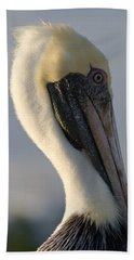 Brown Pelican Profile Beach Towel