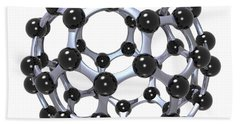 Buckminsterfullerene Or Buckyball C60 18 Beach Towel
