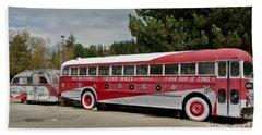 Buddy Holly 1958 Tour Of Stars Bus Art Prints Beach Towel