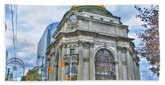 Beach Towel featuring the photograph Buffalo Savings Bank  Goldome  M And T Bank Branch by Michael Frank Jr