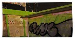 Beach Towel featuring the photograph Building 31 Rimini Beach Graffiti by Andy Prendy