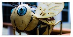 Bumble Bee Of Happiness Metal Sculpture Beach Towel