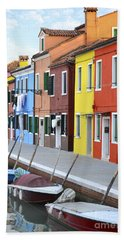Beach Towel featuring the photograph Burano Italy 2 by Rebecca Margraf