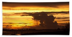 Burning Sky Beach Towel