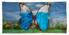 Butterfly - Morpho - I Hate It When The Colors Run Beach Towel