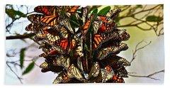 Butterfly Bouquet Beach Sheet