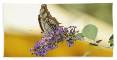 Butterfly Lavender Branch Beach Towel by Andrea Hazel Ihlefeld