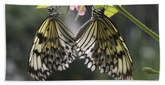 Butterfly Duo Beach Towel by Eunice Gibb