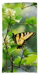 Beach Towel featuring the photograph Butterfly Tiger Swallow by Peggy Franz