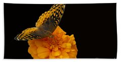 Beach Sheet featuring the photograph Butterfly Visitor by Cindy Manero