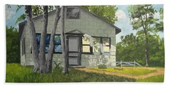 Cabin Up North Beach Sheet by Norm Starks